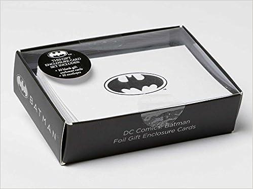 98d62f25ed Amazon.com  DC Comics  Batman Foil Gift Enclosure Cards (Set of 10)  (9781683832973)  Insight Editions  Books