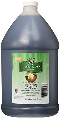 Chef-O-Van Natural Flavoring Extracts, Imitation Vanilla, 128 Ounce