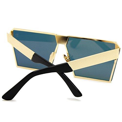 mujeres amztm cuadrado para polarizada Gafas de reflectante Espejo gran efecto las tamaño lente de Naranja sol 6U6Cqw