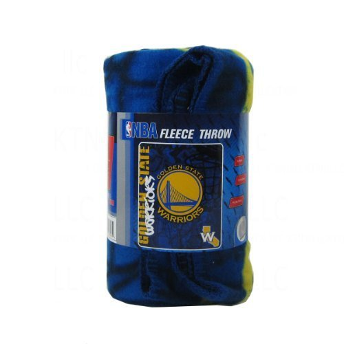 Nba Golden State Warriors Hard Knocks Printed Fleece Throw  50 Inch By 60 Inch