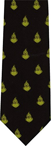 Dr Seuss The Grinch Checkerboard Reversible New Novelty Necktie Tie (Mens Tie Reversible)