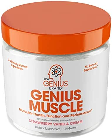 Genius Muscle Builder – Best Natural Anabolic Growth Optimizer for Men & Women | True Weight Gainer Workout Supplement for Steel Physique | Clear Plateaus & Gain Mass in 7 Days with HMB, PA & Peak02