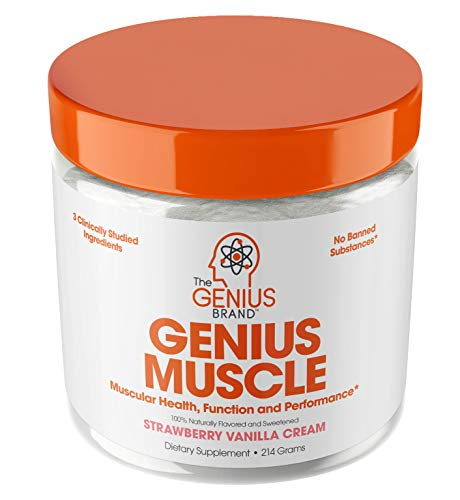 Genius Muscle Builder – Best Natural Anabolic Growth Optimizer for Men & Women | True Weight Gainer Supplement for Steel Physique | Immune System Support w/Vitamin D & Natural Organic Mushrooms