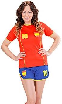 WIDMANN Disfraz de Futbolista España Mujer - M: Amazon.es: Juguetes y juegos