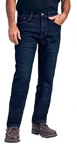 Weatherproof Vintage 1948 Fleece-Lined Jeans Classic Straight Leg (42W x 30L, Dark Blue) (Dark Vintage Jeans)