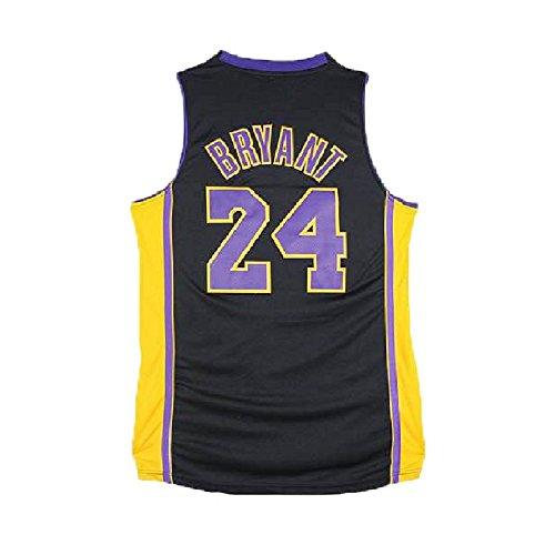 qlesseots Men's Kobe Jerseys Los Angeles 24 Basketball Jersey Black