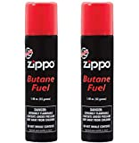 Zippo Butane Fuel, 42 Gram (2-Pack), Small, Black
