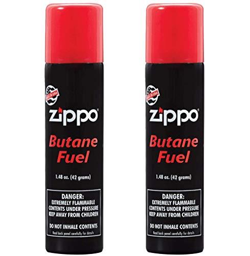 Zippo Butane Fuel - Zippo Butane Fuel, 42 Gram (2-Pack), Small, Black