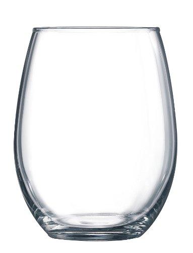 Arc International Luminarc Cachet /Perfection Stemless Wine Glass, (15 onzas, juego de 6 piezas, transparente) (109786)
