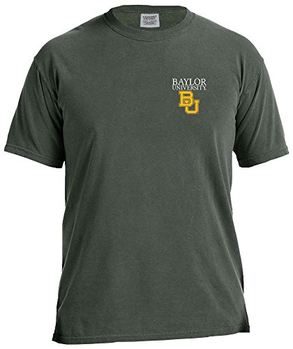 NCAA Baylor Bears Simple Circle Comfort Color Short Sleeve T-Shirt, Willow,Large