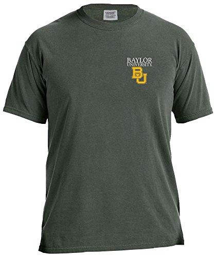 Baseball Jersey Bear (NCAA Baylor Bears Simple Circle Comfort Color Short Sleeve T-Shirt, Willow,XX-Large)