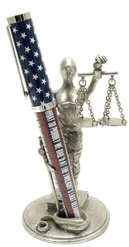 Jac Zagoory Pen Stand Scales of Justice Stand - JZ-PH70 ()