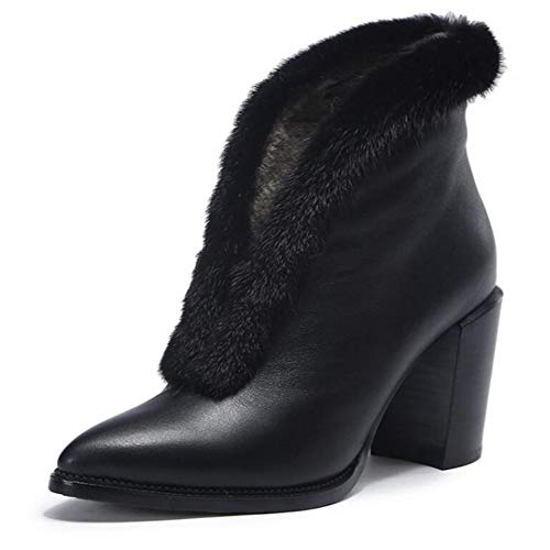 Donne Stivali Alto Autunno Tacco Caldo Stivali Stivali Stivali Black Sexy Bare Stivali Donna Appuntito Martin FxIY5Hvq