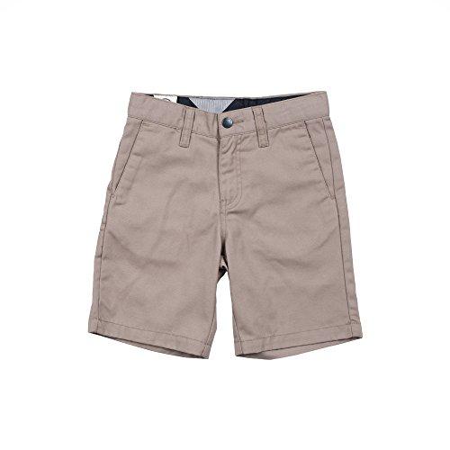 Volcom Baby Little Boys' Frickin Cotton Twill Chino Short, Khaki, 4T