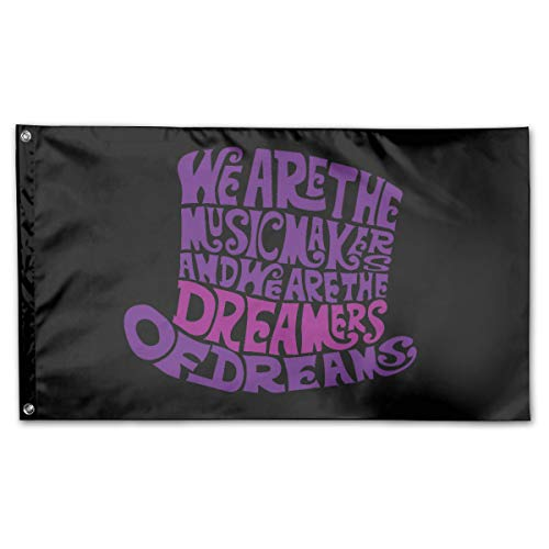 Kim Mittelstaedt 3X5 Foot Willy Wonka Hat Flag - 100% Single Layer of Translucent Polyester/Brass Grommets - Bright Pattern]()