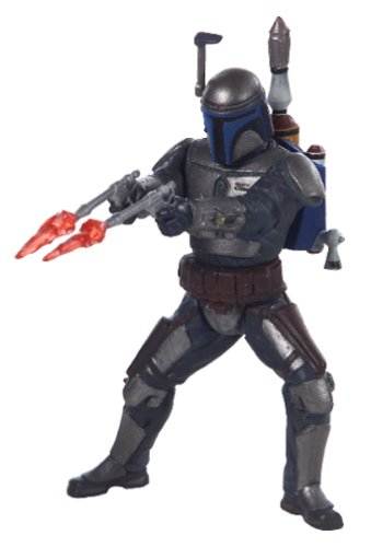 Hasbro Star Wars Power of the Jedi 2002 Sneak Preview Jango Fett Action -