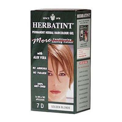 Herbatint 7D Permanent Herbal Golden Blonde Haircolor Gel Kit - 3 per case.