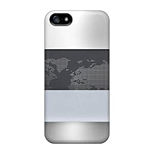 Sanp On Case Cover Protector For Iphone 5/5s (worldmap2 Metallic)