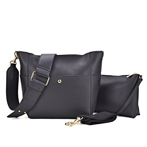 Dasein Women Satchel Hobos Top Handle Totes Multi Pockets Shoulder Purses Soft Leather Crossbody Handbags Roomy Bucket Bags