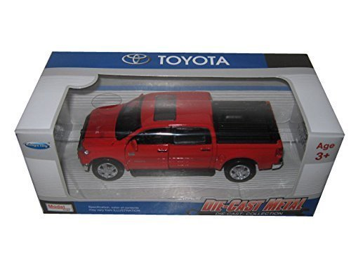 Kingstoy Toyota Tundra Pickup Truck 1:36 Scale Diecast Model Car Red (Toyota Model)