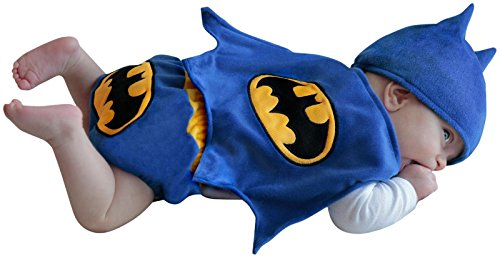 [Princess Paradise Baby Boys Batman Diaper Cover Set, Blue, 0/3 Months] (Batman Costumes Infant)