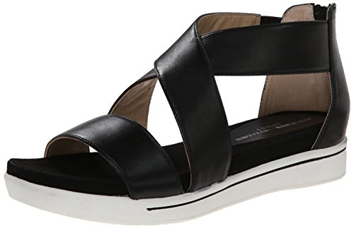 ADRIENNE VITTADINI Footwear Women's Claud Sandal, Black, 10 M US (Adrienne Vittadini Wedge Shoes)