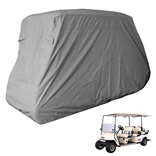 Deluxe 6 Seater Golf Cart Cover fits E Z GO, Club Car, Yamaha Model in Grey