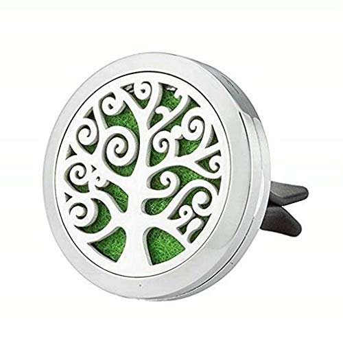 JAOYU Essential Oil Diffuser Car Air Freshener Vent Clip Stainless Steel Floating Charms Lockets for Men Gifts - Animal Locket Fathers Day Ideas