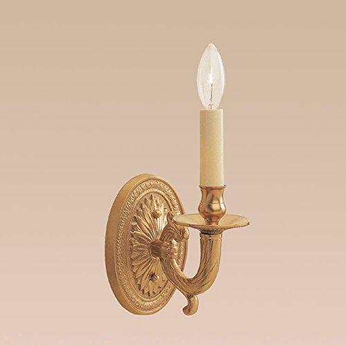 JVI Designs 307-01 1-Light Petal Brass Sconce
