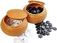 Quantum Abacus Premium Go: Professional, Heavy Pieces for Classic Go / Weiqi, Made of Melamine Resin, About 150-160 Stones p