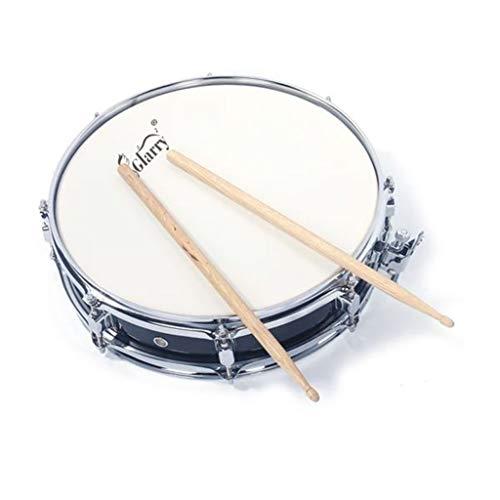(Glarry 13X3.5 Inch Black Snare Drum + Drum Stick + Drum Key + Strap)