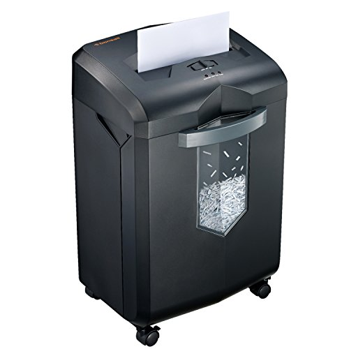 Bonsaii EverShred C149-C 18-Sheet Heavy Duty Cross-Cut Paper/CD/Credit Card Shredder with 6 Gallon Pullout Basket and 4 Casters