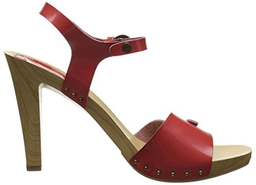 Dress Sandal Patent Women's Nina Saffire S Red TCngxwqt