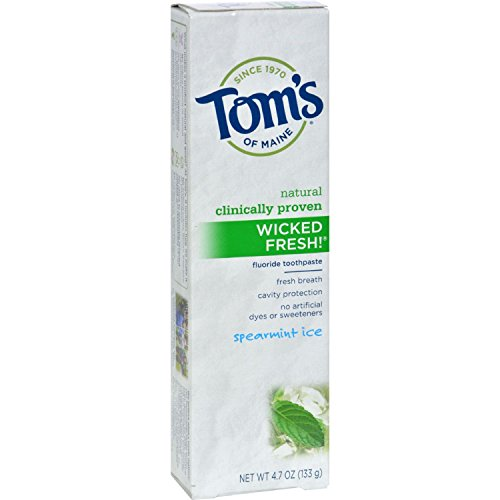 Toms of Maine Wicked Fresh Toothpaste Spearmint Ice - 4.7 oz - Case of 6