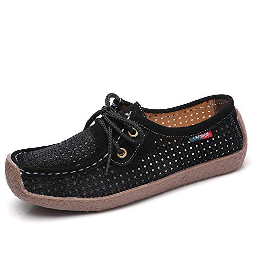 Summer Moccasin Suede Heel Blue Comfort Sneakers Red Coffee ZHZNVX amp; Spring Shoes Women's Black Flat xUnwq0X