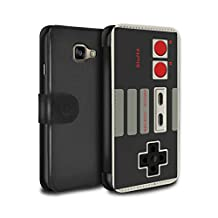STUFF4 PU Leather Wallet Flip Case/Cover for Samsung Galaxy A5 (2016) / Nintendo Classic Design / Games Console Collection