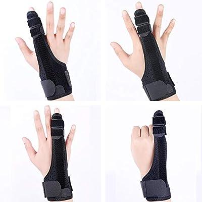 جبيرة الإصبع كسور الإصبع المصحح الثابت راحة قابلة للتعديل حماية جيدة التهوية جبيرة إصبع السبابة في المنتصف حلقة زناد صغير حماية الأصابع اليد اليسرى واليمنى العالمية L Amazon Ae