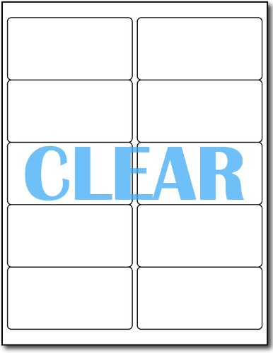 - Crystal Clear Adhesive Labels for Laser Printers - 4