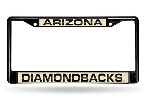 Black Diamond Laser - Rico Industries RIC-FCLB6701 Arizona Diamondbacks MLB Laser Cut Black License Plate Frame