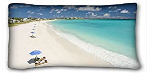 "Custom ( Landscapes sea coast landscape ) DIY Pillow Cover Size 20""X36"" suitable for California King-bed PC-White-21559"