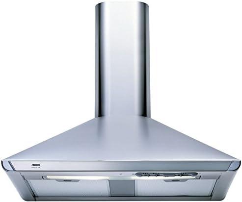 Zanussi ZHC 721 X - Campana (610 m³/h, Recirculación, 56 dB, De pared, Acero inoxidable, 2 bombilla(s)): Amazon.es: Hogar