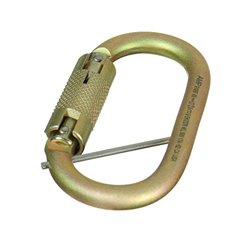 Fusion Climb Ovatti Military Tactical Edition Steel Auto Lock Oval Symmetrical Anchor Carabiner with Captive Eye Pin Gold by Fusion Climb (Image #6)
