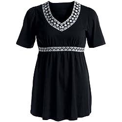 Women Plus Size Blouse,Hemlock Women's Summer Oversize Tops Shirt (XL, Black)