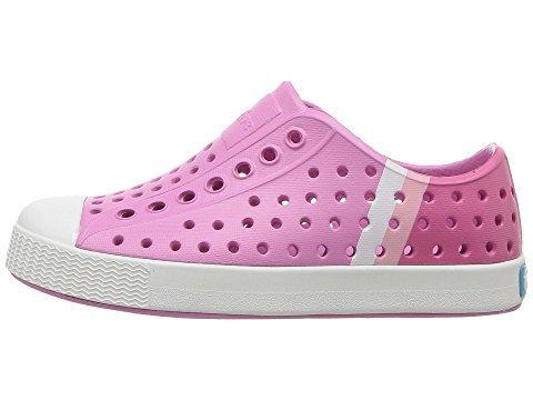 Native Kids Block Print Jefferson Water Proof Shoes, Malibu Pink/Shell White/Gradient Block Print, 5 Medium US Toddler
