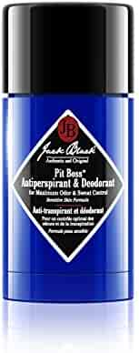 JACK BLACK – Pit Boss Antiperspirant & Deodorant – Sensitive Skin Formula, Roll-Up Stick, Invisible Solid, Glides on Easy, No Residue on Skin or Clothes, Protects Against Free Radicals, 2.75 oz