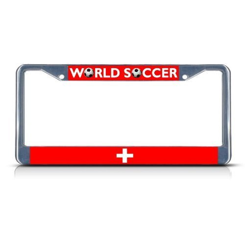Guang trading SWITZERLAND Soccer Team Chrome Metal Heavy Duty License Plate Frame Tag Border by Guang trading
