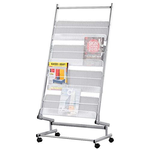 (Four-Layer Minimalist Magazine Rack, Office/Library Newspaper Display Stand, Floor-Standing Scroll The Data Frame, Vertical Publicity Racks, Newspaper Racks)