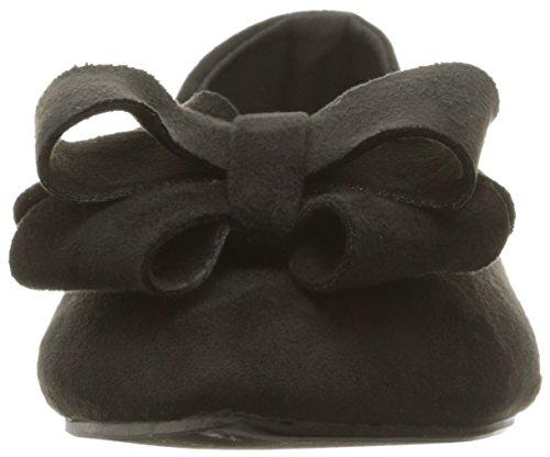 WeiYin Womens Flower Pointy Toe Ballet Flats Office Flat Comfortable Work Shoes Black vPAKe