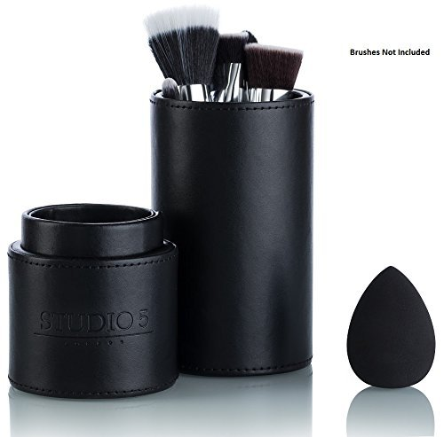 Pro Brush Holder and Blending Sponge Set by Studio 5 (Tarte Lash Mascara Comb)
