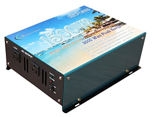 3000W peak 1500W Pure Sine Wave Power Inverter DC 12V to AC 110V 60Hz, Car power ()